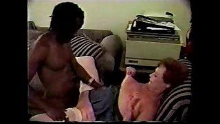 Granny Enjoys Younger Black Bull Interracial
