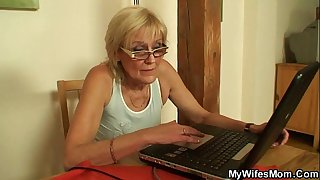 Muscled guy fucking his wife's mom