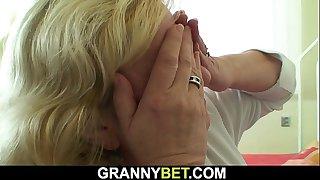 Chubby 70 years old grandma