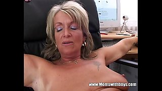Blonde Mature Office Boss Anal Fucked By Applicant