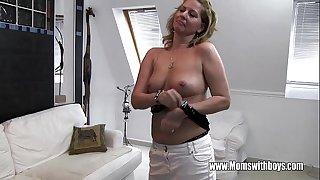 Horny Mature Stepmom Fucks Son Caught Masturbating