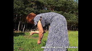Outdoor Granny Fuck With Sexy Ass