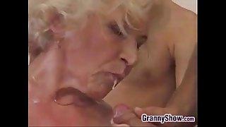 Grandma Fucked And Creampied In A Gang Bang