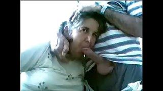 Aged couple having fun on web cam. Amateur