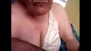 Amateur grandma sucking my cock.