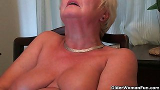 Busty and curvy grandma Sandie collection