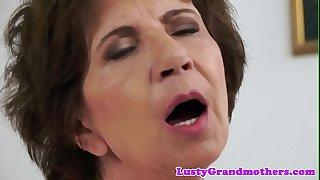 Busty european grandma slammed by bbc