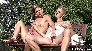 He caught old mother and teen toying