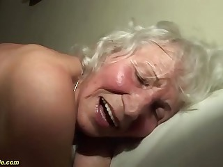 extreme horny 76 years old granny rough fucked