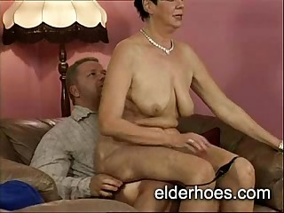 Granny Bouncing on a cock