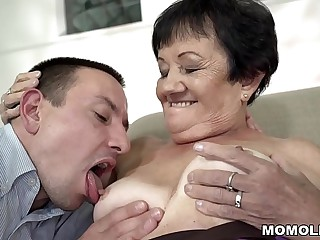 Granny pussy banged deep