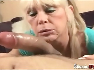 Dirty Talking Blonde Granny With Huge Tits Loves To Play With Big Cock