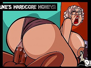 Thick Ass Granny Fucked by Big Black Cock!