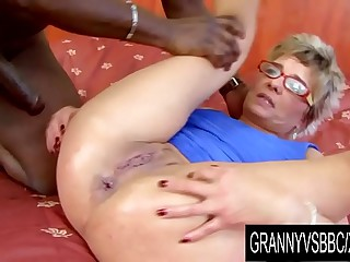 Granny Vs BBC - GILF Jessey Has Her Ass Mercilessly Railed by Her Black BF