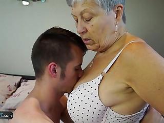 AGEDLOVE Granny Savana fucked with really hard stick