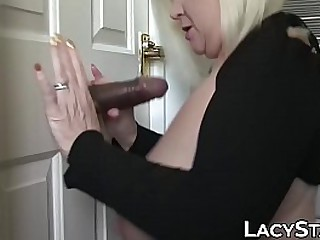 Granny takes big cock up in her asshole