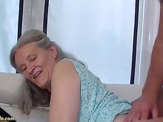 horny grandma loves rough sex with her husbend