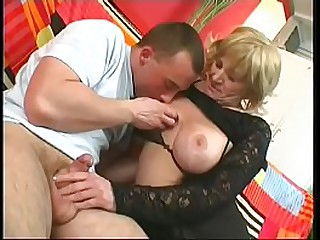 Blonde granny gets her cunt drilled by young dick