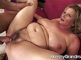 Gap toothed hairy granny pussy fucked