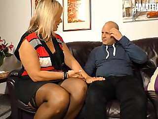 AMATEUR EURO - Big Tits Big Ass BBW Granny Kiki R. Fucks The Neighbor While Nobody's Home