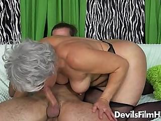 Granny has a big tits