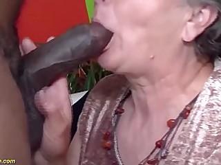 hairy granny brutal big black cock fucked
