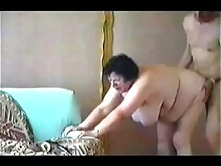 Horny granny paid for sex. Amateur