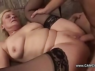 Young Boy Fuck Old Lady Hard and give Cumshot