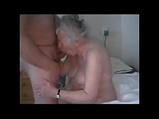 Amateur. Having fun with old granny