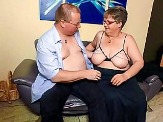 XXX OMAS - BBW granny with glasses home fucking