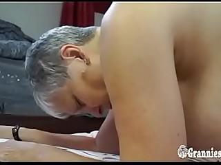 Chubby Granny Savana Loves Hard Young Cock