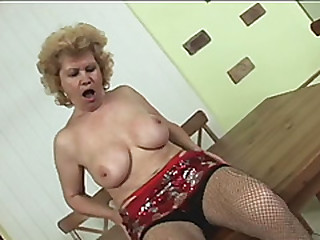 60 year old granny gets down and dirty as she shows all her serotics with cock