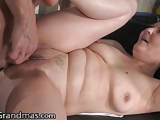 BBW Granny Gets Fingered And Pounded Hard