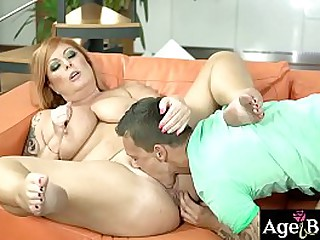 Granny Tammy sucking Dom's long dong