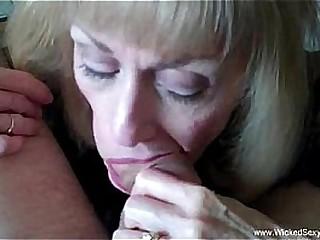 Cuckold Granny Is Addicted To Cum