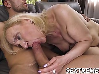Naughty granny pounded by y. dude