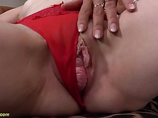 horny granny prolapse her extreme big meat hole and gets licked by her mature big boob lesbian girlfriend