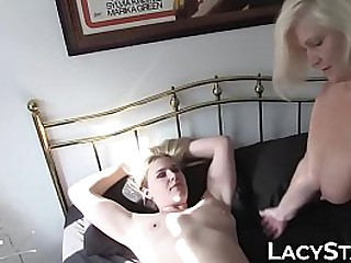 Busty minx eaten out by lesbo granny