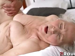 Busty granny hammerd hardcore doggystyle