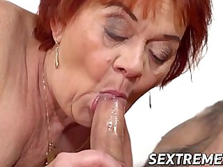 Granny seduced and railed by a young man