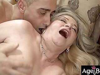 Granny Betsy enjoyed Mugur's veiny cock