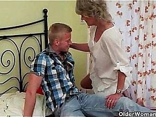 Blonde skinny granny bbc anal