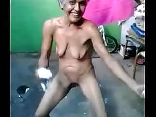 Indian desi village granny