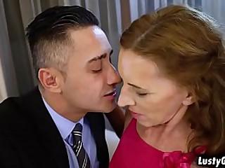 Hot granny v.  gets a surprise birthday sex
