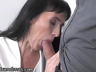 He Takes Care Of The Granny Next Door With His Big Cock