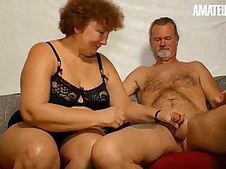 AMATEUR EURO - Deutsche Granny Heike R. Sucks And Fucks Like A Pornstar