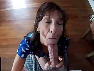 Hot Granny Takes A Mouthful Of Cum