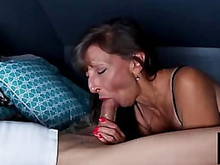 Sexy Granny Get A Mutiple Cumshot For Her Efforts