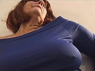 Sexy granny Curvy Woman in Tight Dress