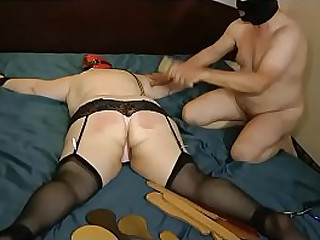 Granny gets worked by the paddle guy for the first time
